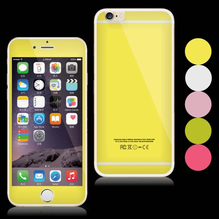 iPhone 6 Plus 6s Colorful Bling Front & Back Glitter Tempered Glass Screen Protector 5.5 Film - Best Accessory store