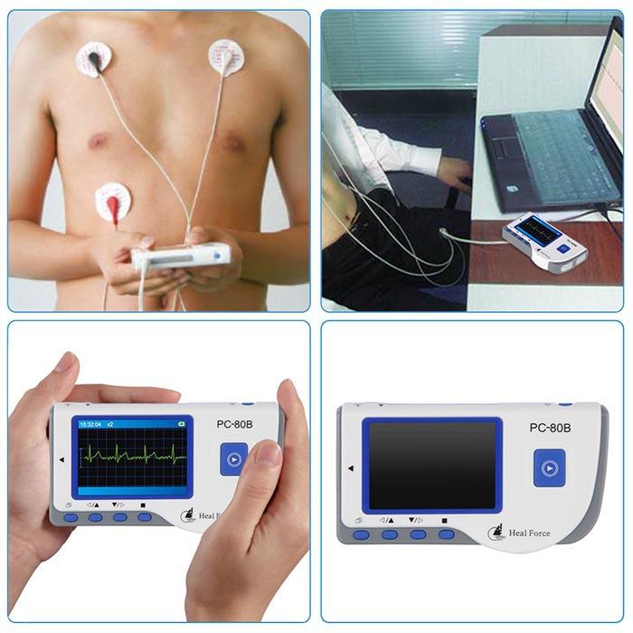 Health Care Ce Easy Handheld Ecg Ekg Portable Mini Pc-80b Lcd Heart Ekg Monitor Continuous Measuring Function Usb1