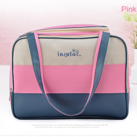 Free Shipping Striped Style Classic Waterproof Baby Diaper Bag With Durable Microfiber Multifunction Baby Mummy Bag Nappy Bag(China (Mainland))