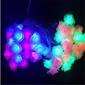 10M 50LED lamps Rose Flower Christmas lights for outdoor garden wedding paty patio string light garland