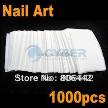 1000x Nail Wipes Cotton Pad Gel Acrylic Tips /Nail polish Remover Free Shipping 50(China (Mainland))