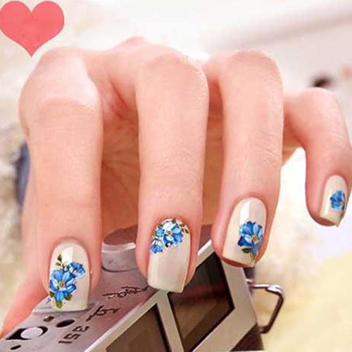 30 Sheets Multi Color Floral  Design  Nail Art Salon Stickers Decals Manicure Accessories  Chic Design<br><br>Aliexpress
