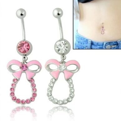 free shipping cheap cool skull dangle belly rings