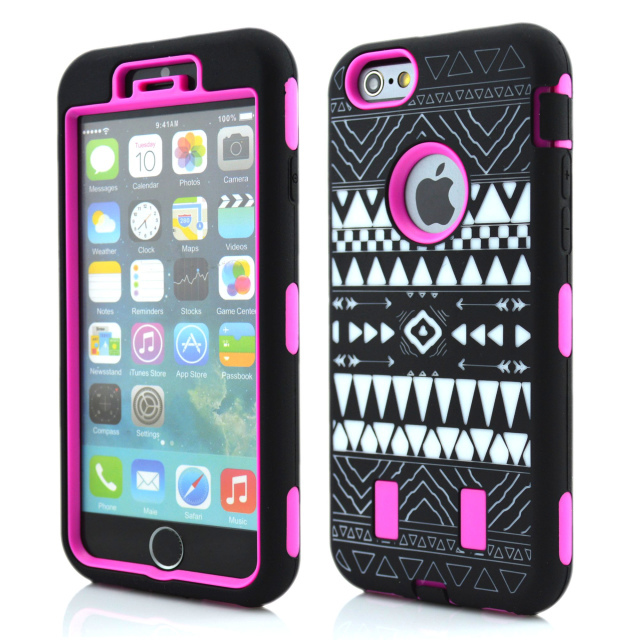 Tribe Design Robot Hybrid Anti Shock Armor Heavy Duty PC Silicone back case skin cover iPhone 6 Plus 5.5 Inch - E-Mall Store store