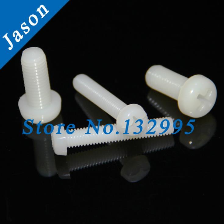 M6*16--100pcs  DIN7985 Nylon Phillips Pan Head (Cross recessed pan head) Machine Screws<br><br>Aliexpress