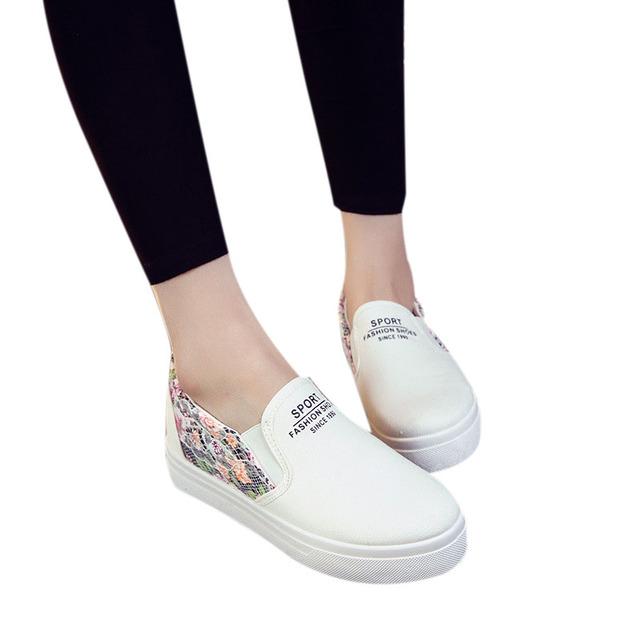 2016 новая весна обувь туфли-кожаных цветочные печатный свободного покроя квартиры ...