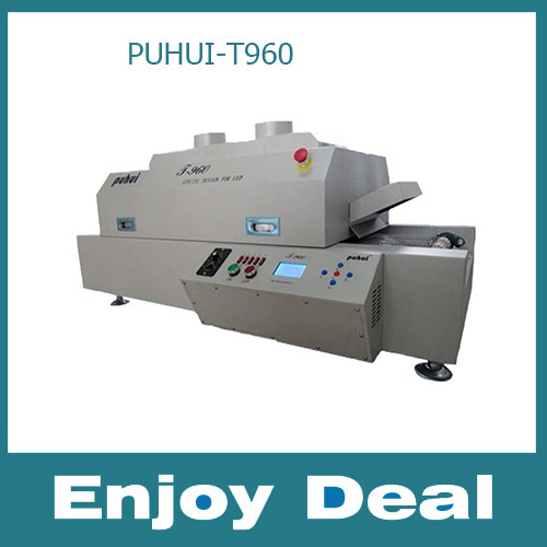 PUHUI T-960 LED Wave reflow Soldering Machine SMT Reflow Oven infrared IC Heating Length 960mm Max PCB Board Length 300MM(China (Mainland))