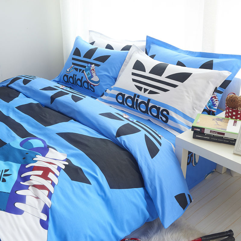 Adidas sport kit set bedding bed duvet twin single size for Housse de couette pour ado