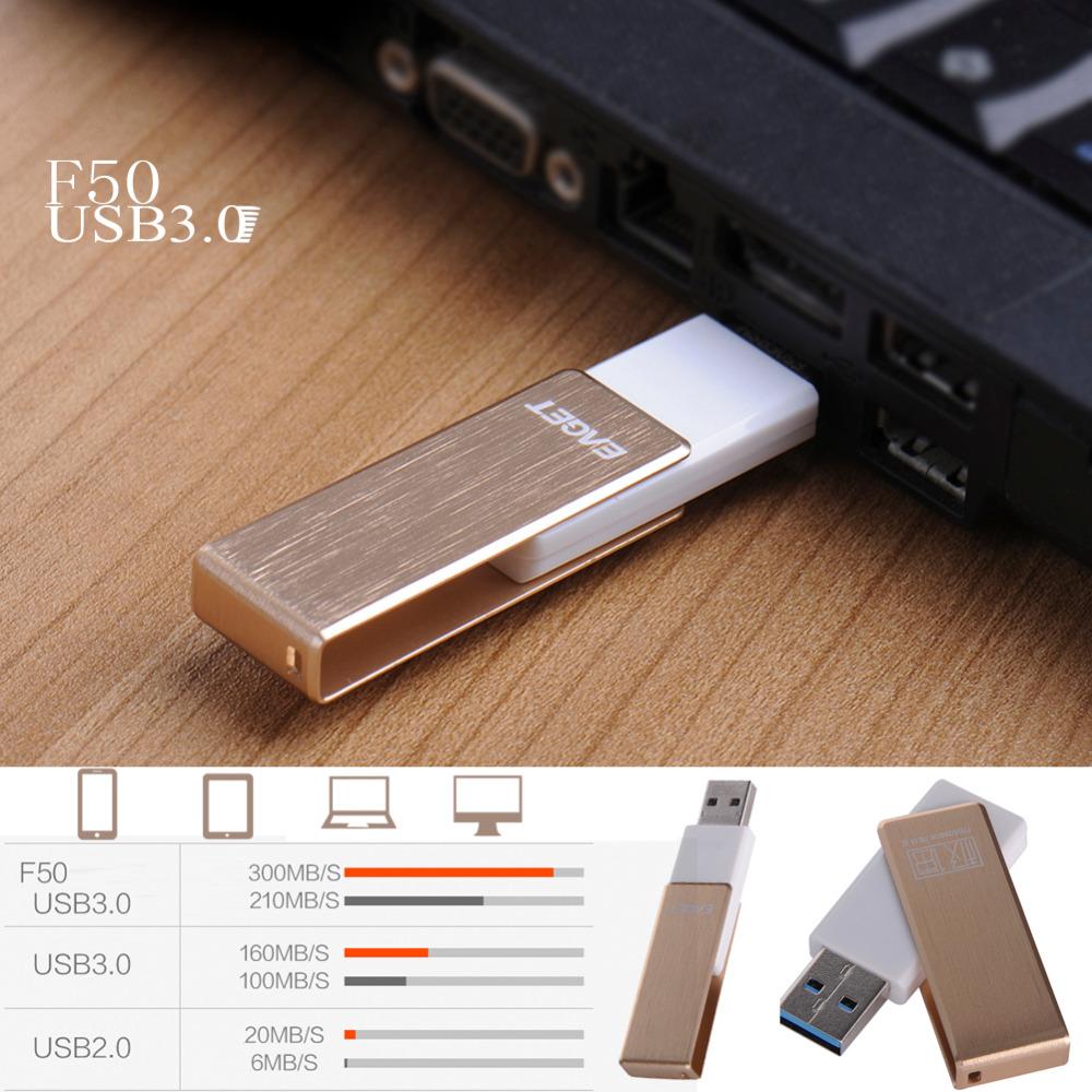 EAGET F50 Adopt the A Class Chip High Speed 256GB USB 3.0 360 Degree Rotation Metal U Disk Memory Flash Drive 128GB fast shiping(China (Mainland))