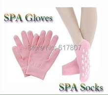 Superdealer 2pairs LOT 1pair glove 1pair sock Whiten Skin Moisturizing Treatment Gel SPA gloves and socks