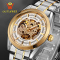 Skeleton Mechanical Watch Original OUYAWEI Gold Automatic Military Sport Stainless Steel Wrist Watches for Men Reloj