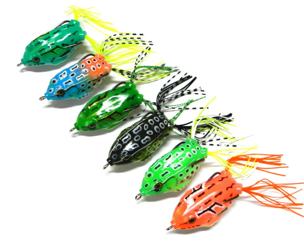 12pcs topwater frogs with high carbon soft bait 5 5cm 12 for Crappie fishing bait
