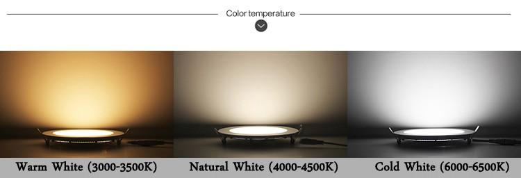 LED PANEL LIGHT- COLOR TEMPERATURE