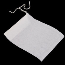 100Pcs/lot Empty String Heat Seal Filter Paper Tea Bag 6X8CM #5254(China (Mainland))