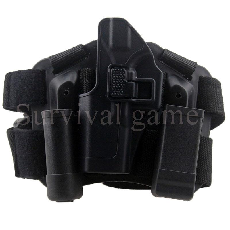 Tactical Glock Leg Holster Left Hand Paddle Thigh Belt Drop Pistol Gun Magazine Torch Pouch 17 19 22 23 31 - PJim outdoor recreation store