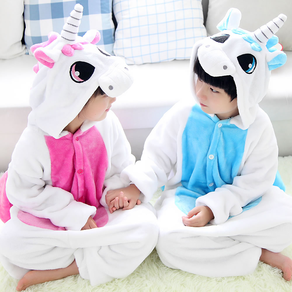 Funny Kids Pajamas Anime Animal Outwear Children Party Coplay ...