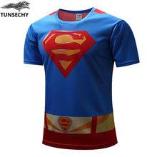 Компрессионный Супермен Бэтмен Халк фитнес мужские футболки 3d печать мужская футболка высокое качество Каратель мужские футболки(China)