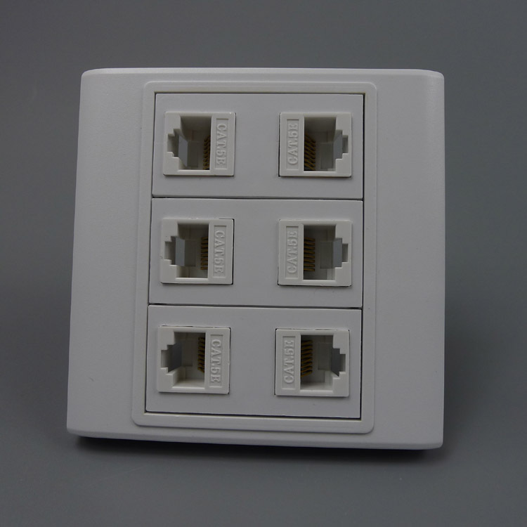 popular wall plates rj45 6 buy cheap wall plates rj45 6 lots from china wall plates rj45 6. Black Bedroom Furniture Sets. Home Design Ideas