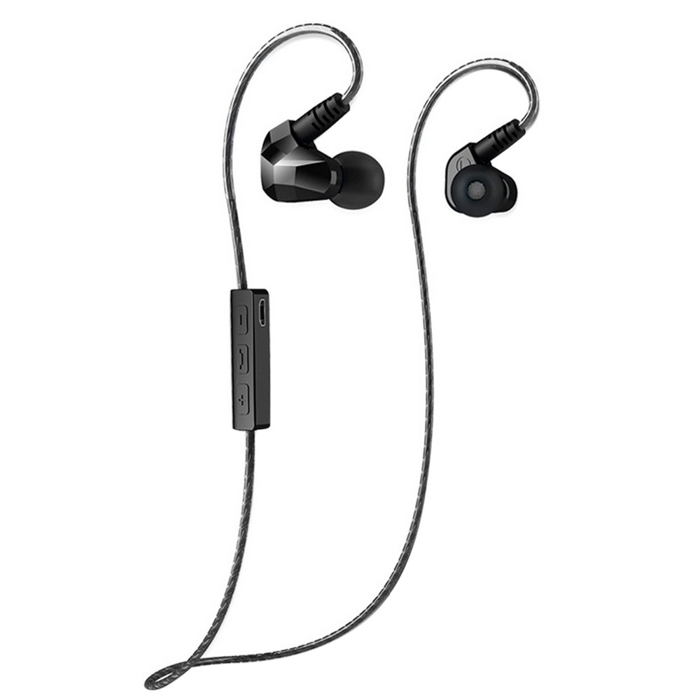 TOPS Moxpad X90 HiFi Wireless Bluetooth V4.1 Stereo Dual Driver Earphone Sport Running Earbud Studio Music Headset With Mic(China (Mainland))