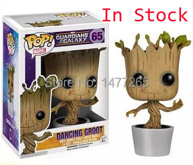 Genuine Brand Funko POP Guardians Of The Galaxy Toy Figure DANCING GROOT Bobblehead Marvel Toy(China (Mainland))