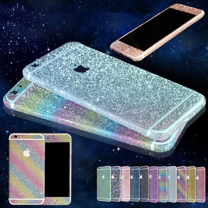 Bling Sticker Case For iPhone 7 Full Body Decal Skin Bling Glitter Sticker Phone Cover For Apple iPhone 7 Plus Coque Funda(China (Mainland))