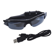 Hot!!! Sunglasses For TF SD Mini DVR Cam Eyewear 640 x 480 Sun Glasses DV Camera Outdoor Digital Audio Video Camcorder Recorder(China (Mainland))