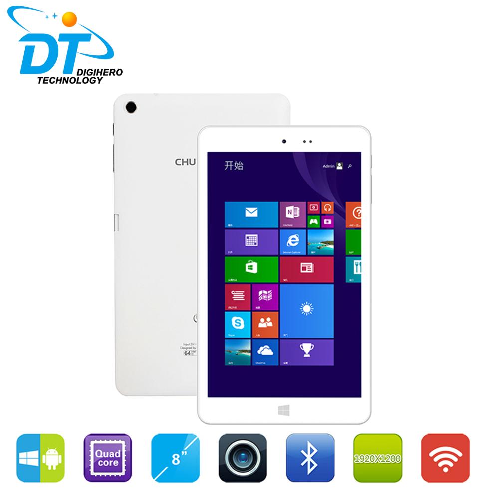 Original Chuwi HI8 Windows 8.1+Android 4.4 Dual boot tablets pc Intel Z3736F Quad Core 2GB/32GB 8 inch 1920*1200 Multi Language(China (Mainland))