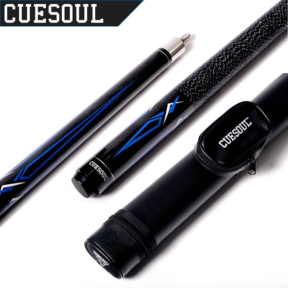 CUESOUL 1/2 Jointed Maple Pool Cue Stick With 1 Butt and 1 Shaft Billiard Cue Tube Case(China (Mainland))