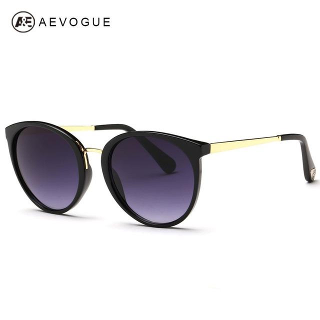 Aevogue бесплатная доставка новейший бренд солнцезащитных очков женщин храмовых сплав покрытие линз винтаж оттенки солнцезащитные очки óculos UV400 AE0256