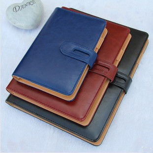 quality PU commercial notebook diary 2014 business faux leather notepad spiral agenda organizer daily memos journals sketch book - Shenzhen Weiyi Fashion Gift Co., Ltd. store