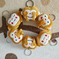 Cute Emoji Monkey Toy Smiley Emoticon Stuffed Plush Key Chains Phone Emoji Keychain Emoticon Key Ring
