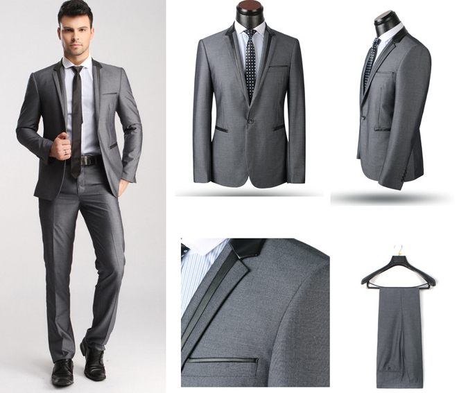 New Fashion Italy Style Men's Wedding Tuxedo Suits Hot Selling High Quality Brand Business Suit Coat+Pant For Man Free Shipping(China (Mainland))