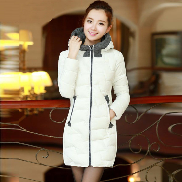 2013 winter new arrival women's elegant with a hood medium-long wadded jacket cotton-padded jacket outerwear 02212213870
