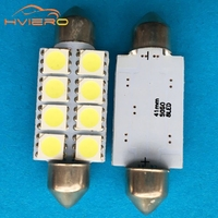 new 10pcs white 5050 8smd 8 smd 31mm 36mm 39mm 41mm carLed Bright C5w Interior Festoon Car Light Dome Lamp Bulb DC 12V wholesale