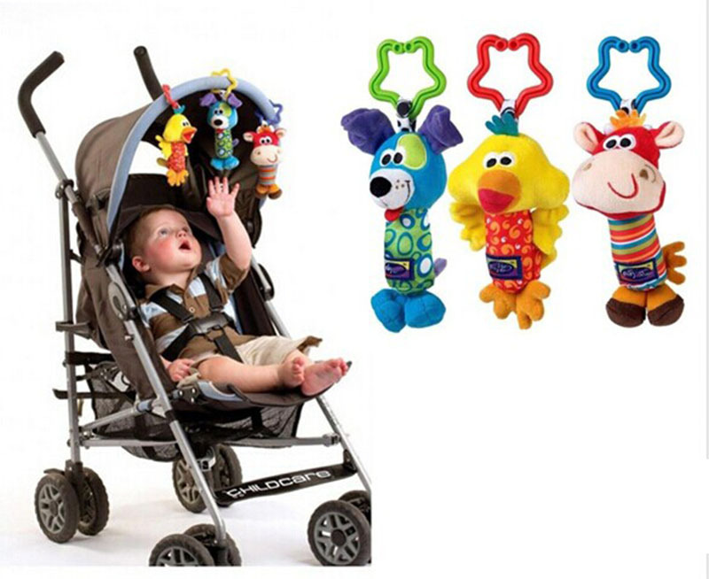 2015 Hot 3PCS/sets Baby Toys 3 design Rattle Hand Bell Multifunctional Plush Toy Stroller Mobile Gifts 3M+ - Corner Store store