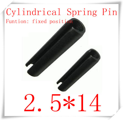 High Quality  2.5*14 Elastic cylindrical pin,cylindrical spring pin 200pcs/lot<br><br>Aliexpress