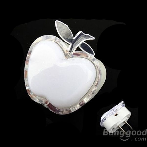 Pskov case for apple Shaped Colorful LED Night Light Energy-saving Wall Lamps(China (Mainland))