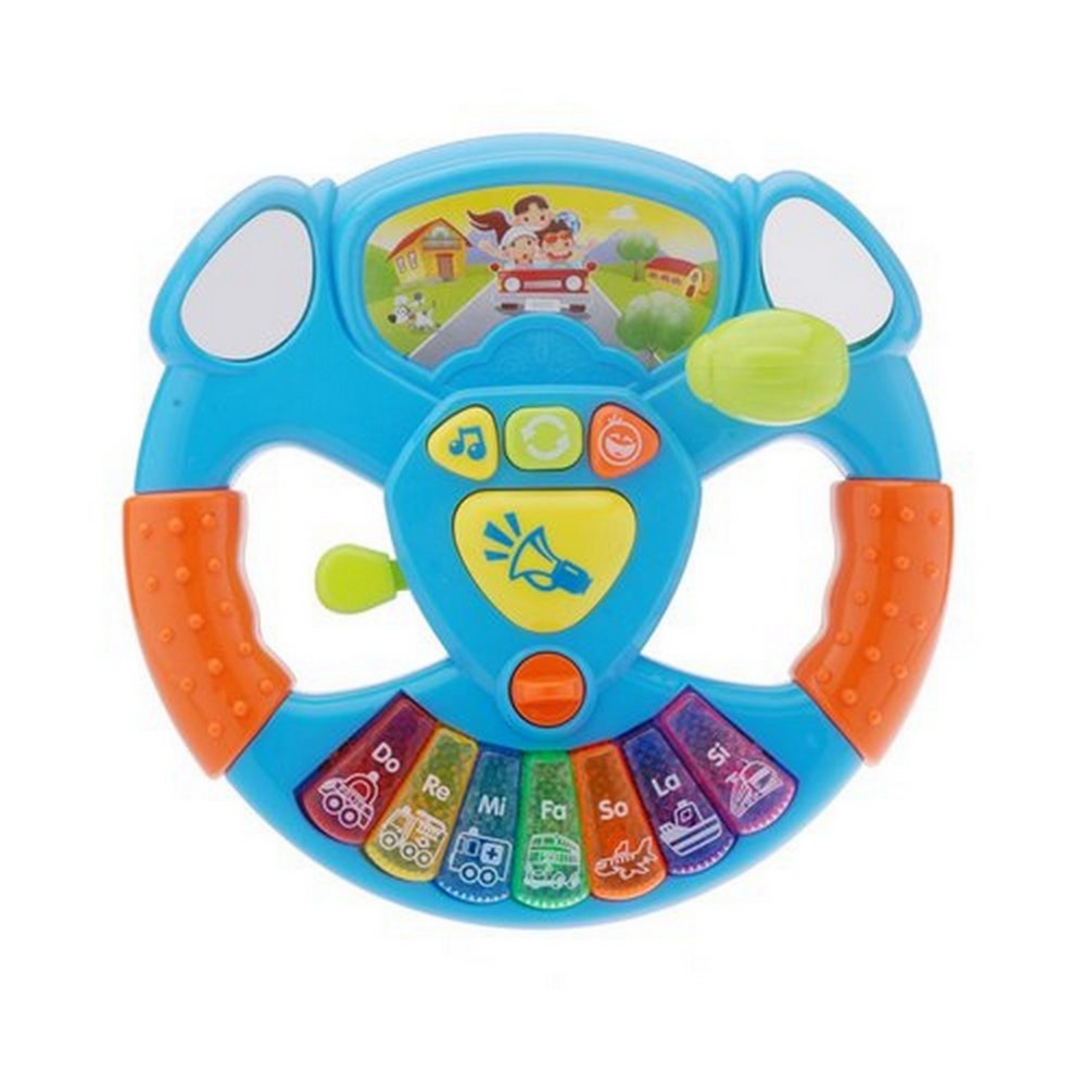 Intelligence Toy transportation tools Music lights steering wheel Baby Educational Electronic 86326(China (Mainland))