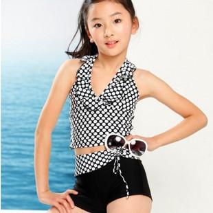 Factory children swimsuit split boxer lively lovely girls swimming clothing - Online Store 526821 store
