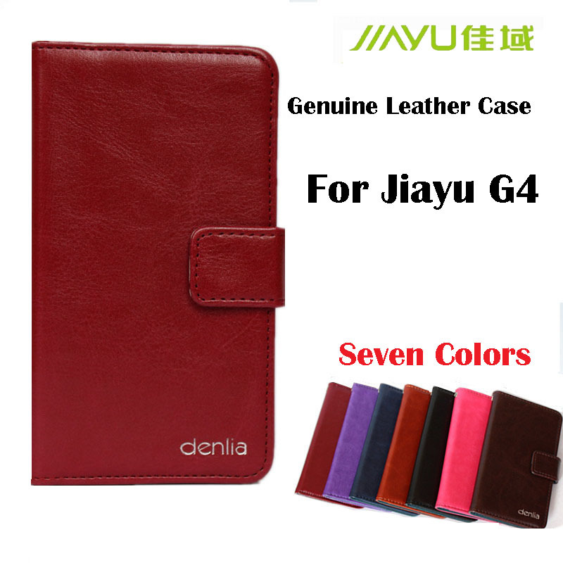 New Arrival! Genuine leather phone case for Jiayu G4 G4C G4S protector phone seven colors choice Card in stock jiayu case.(China (Mainland))