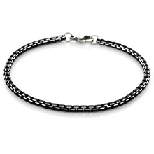 316L Stainless Steel Bracelet Men Jewelry Wholesale High Quality Never Fade Hot Sale  21 cm 3mm Box Link Chain Bracelets H582-1(China (Mainland))