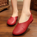 Plus Size 35 43 2017 Shoes Woman Genuine Leather Women Shoes 6 Colors Loafers Women s