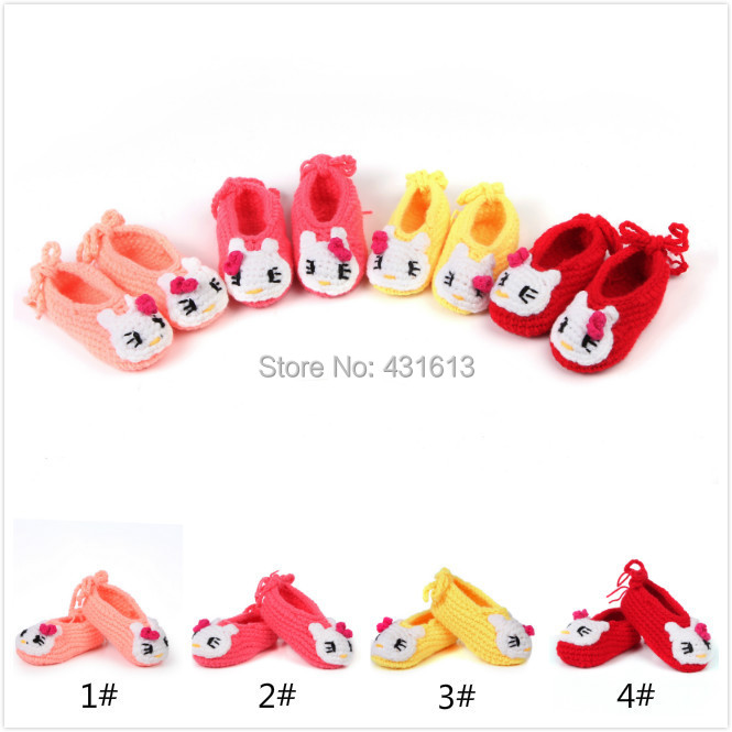 Factory directly Crochet Baby Shoes exclusive Handmade Toddlers shoes Infant Girls bowktie shoe for newborns SL-024(China (Mainland))