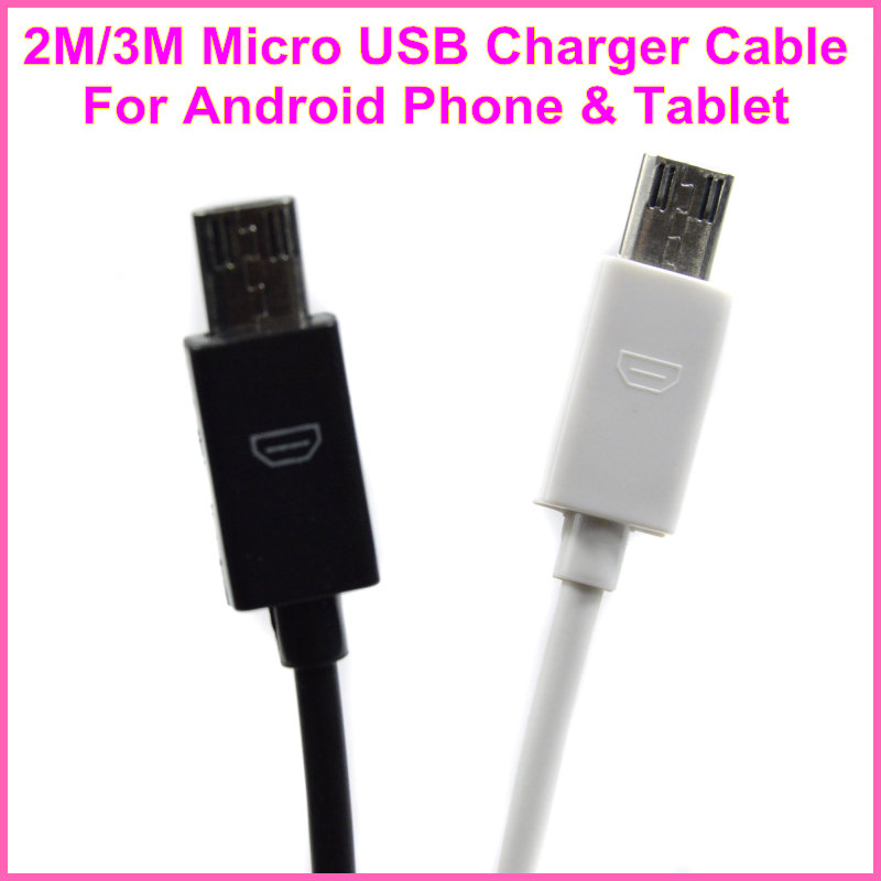 2M 3M Micro USB Data Sync Charging Cable For Samsung Galaxy S2 S3 S4 For HTC for Sony For LG All android Mobile Phone(China (Mainland))