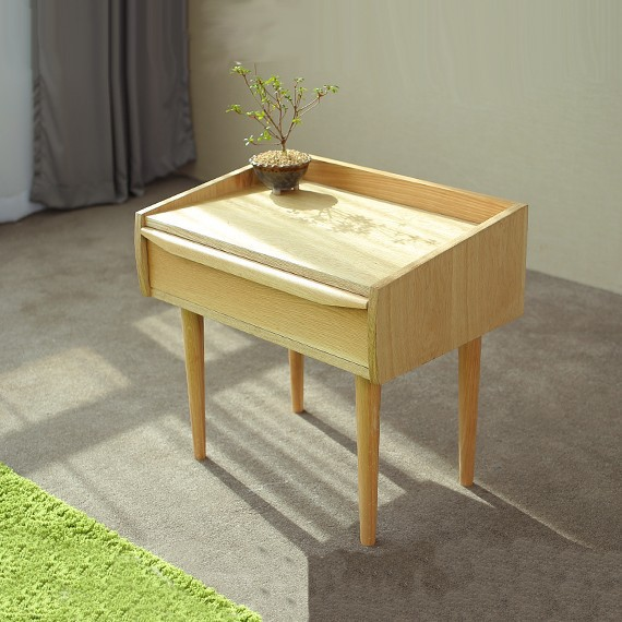 Japanese style furniture nordic modern bedside cabinet for Japanese bedside table