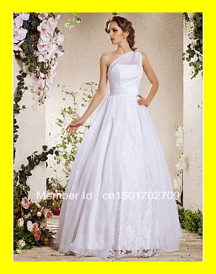 Retro Wedding Dresses Guest Of Sheath Gold Beach A-Line Floor-Length Lace One Shoulder Sleeveless Natural Zipper Buil 2015 Cheap(China (Mainland))