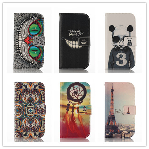 Luxury Painting Leather Case Samsung Galaxy S3 SIII I9300 Mobile Phone Bag Stand Wallet Cases Back Cover - Umex store