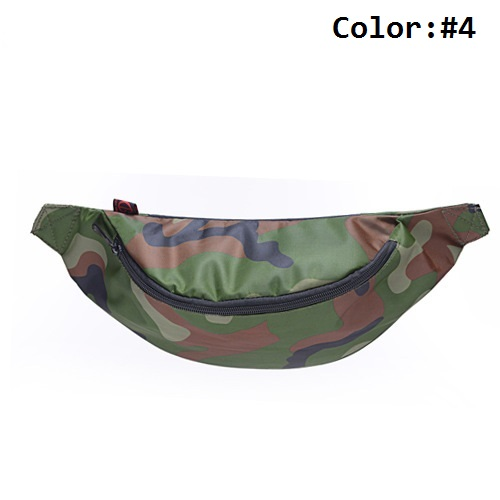Camo Fanny Pack with Cell Phone Pouch & Automatic Umbrella & Small Personal Stuffs Waist Bag for Both Men and Women(China (Mainland))