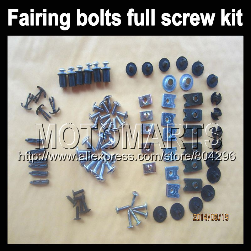 Fairing bolts full screw kits Aprilia RS4 125 RS125 99-05 RS RS-125 RSV125 1999 2000 2001 2002 2003 Nuts bolt screws kit - Motomarts store