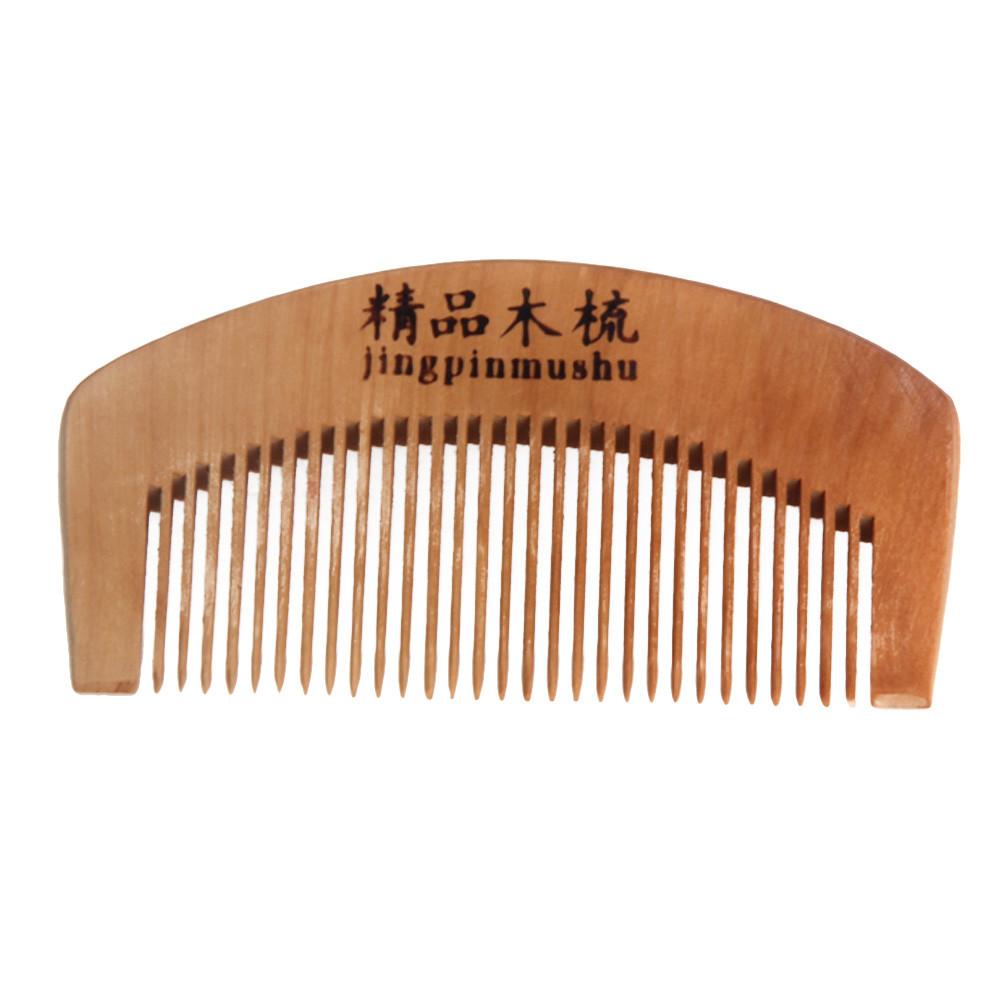 SIF Natural Health Peach Wooden Mahogany Comb Present Comb APR 12(China (Mainland))